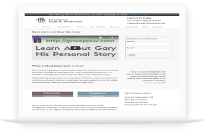 Law Offices of Gary R. Waitzman Website